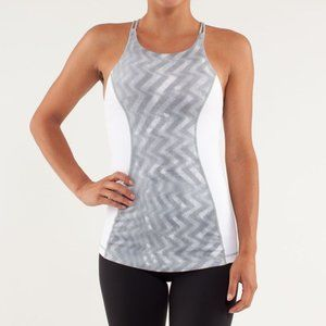LULULEMON | Virtuous Tank Top Grey White | Sz. 4